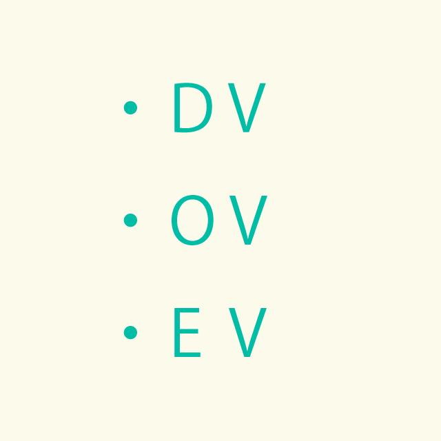 DV、OV、EV