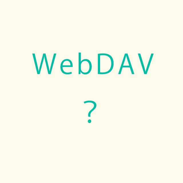 WebDAV?